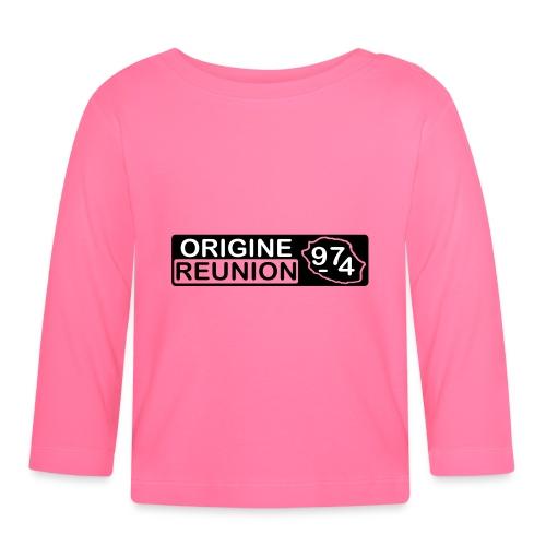 Origine Réunion 974 - v1 - T-shirt manches longues Bébé