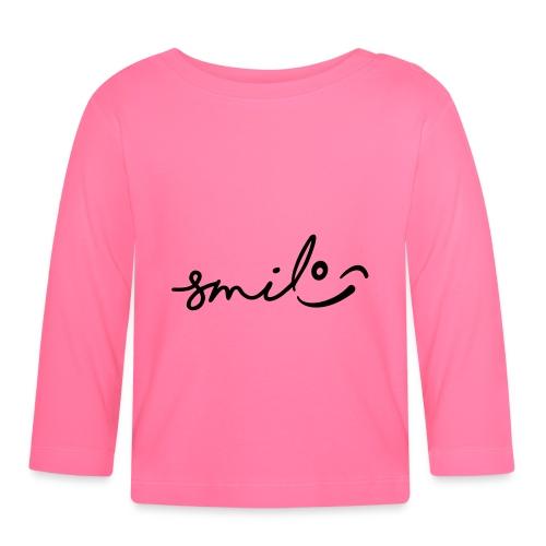 Smile met een knipoog. Lachen, lachend gezicht. - T-shirt