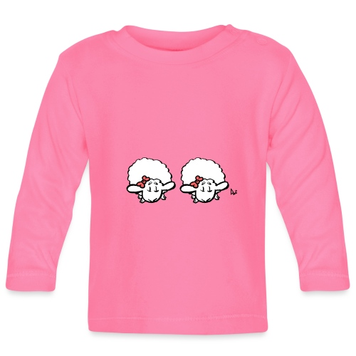 Baby Lamb Twins (rosa y rosa) - Camiseta manga larga bebé