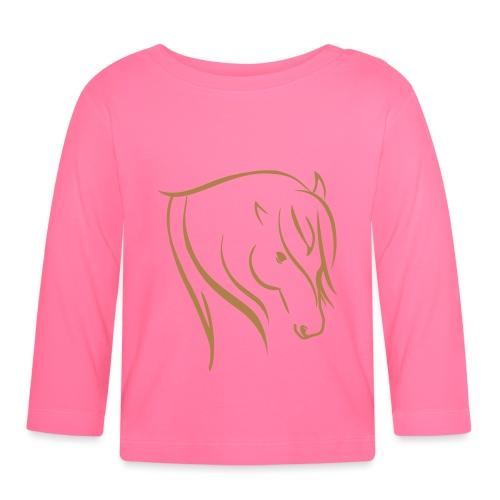 Pferdekopf Motiv Reitbekleidung - Baby Langarmshirt