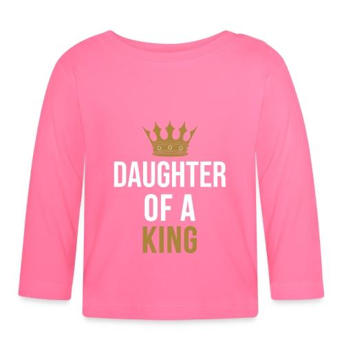 Daughter of a King Vater Tochter partnerlook - Baby Langarmshirt