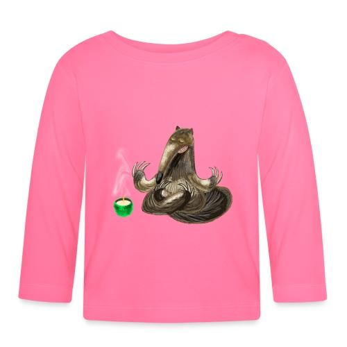 Meditating Ant eater design / print - Baby Long Sleeve T-Shirt