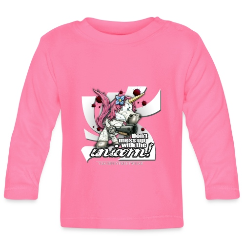 Don't mess up with the unicorn - Baby Langarmshirt