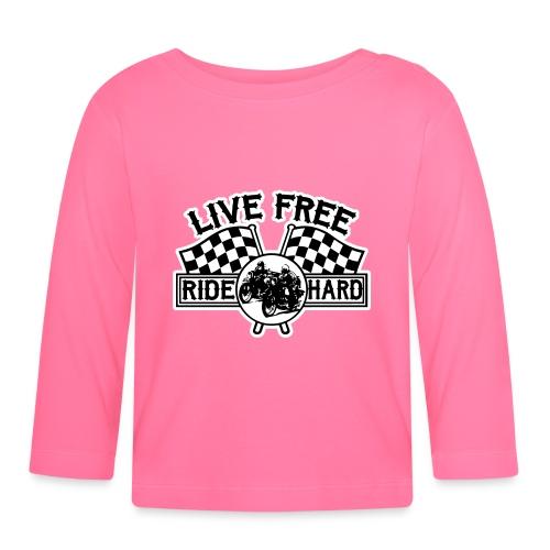 Live Free Ride Hard - Camiseta manga larga bebé