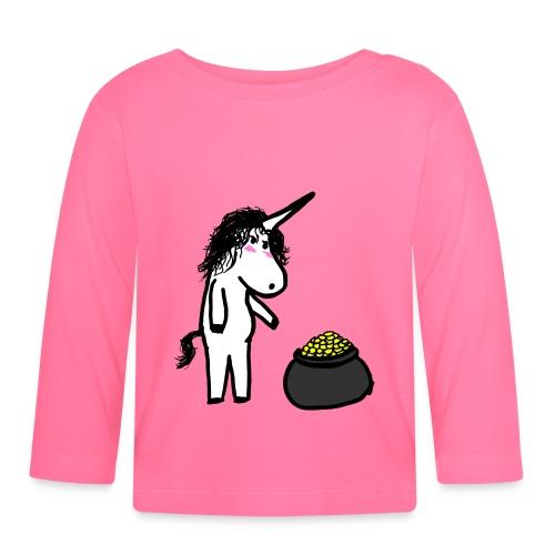 Oro unicorno - Maglietta a manica lunga per bambini