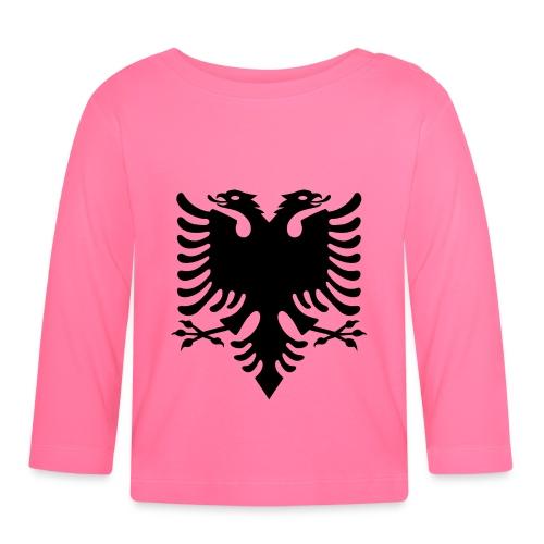 Kosovo Doppelkopfadler Shqiptar Shqipe - Baby Langarmshirt