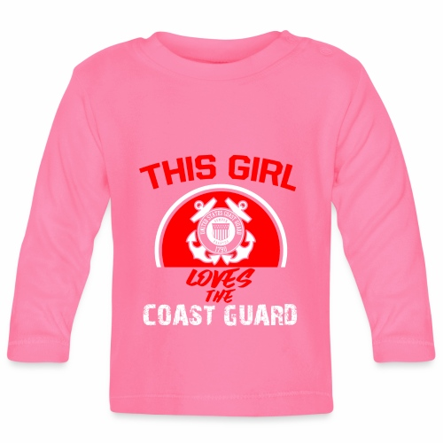This Girl Loves The Coast Guard - Baby Langarmshirt