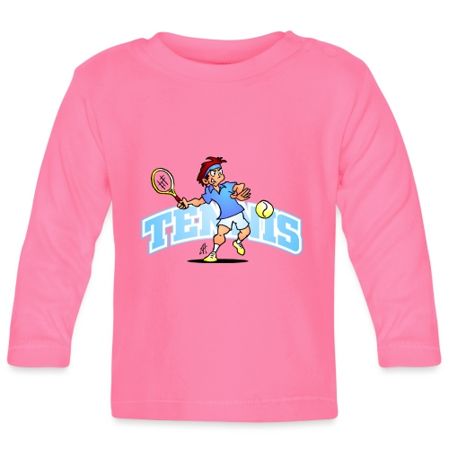 Tennis IV txt fc - Baby Long Sleeve T-Shirt