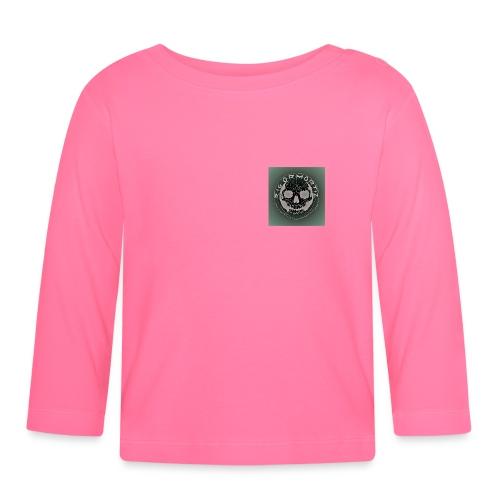 Rigormortiz Dark Solid Background Logo Design - Baby Long Sleeve T-Shirt