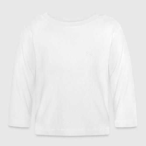 DAD WHITE png - Langærmet babyshirt