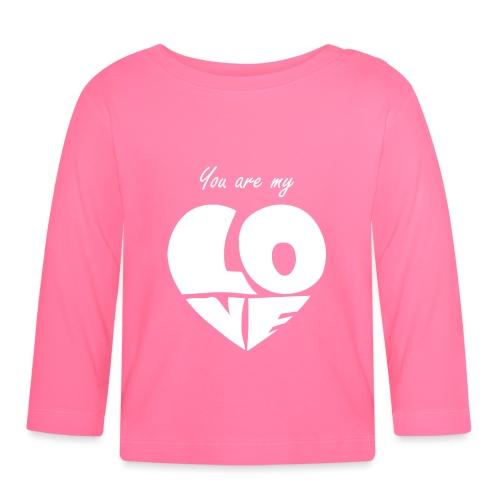 You are my love, Tu es mon Amour, Coeur blanc - T-shirt manches longues Bébé