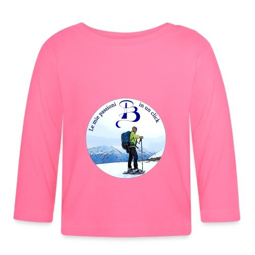 Logo cartone ciaspole - Maglietta a manica lunga per bambini