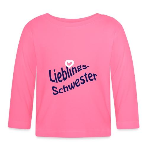Lieblings-Schwester - Baby Langarmshirt