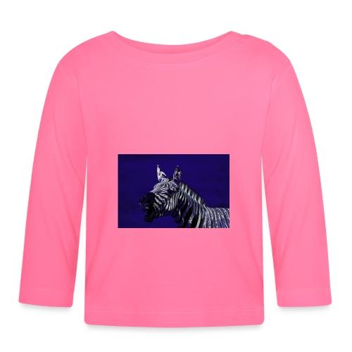 blue zebra - Baby Long Sleeve T-Shirt