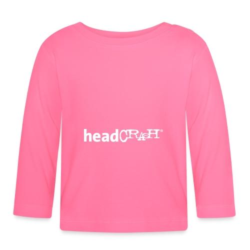 headCRASH Logo white - Baby Langarmshirt