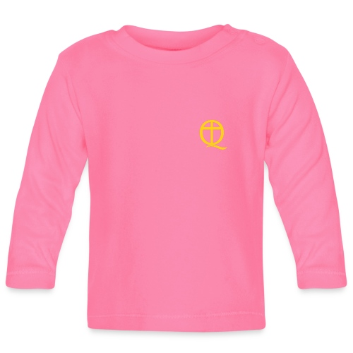 QC Gul - Långärmad T-shirt baby