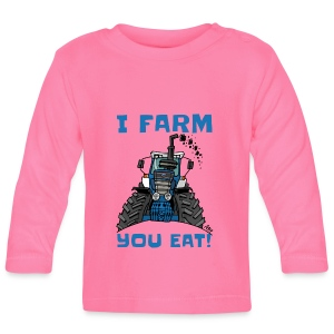 I farm you eat blauw - T-shirt