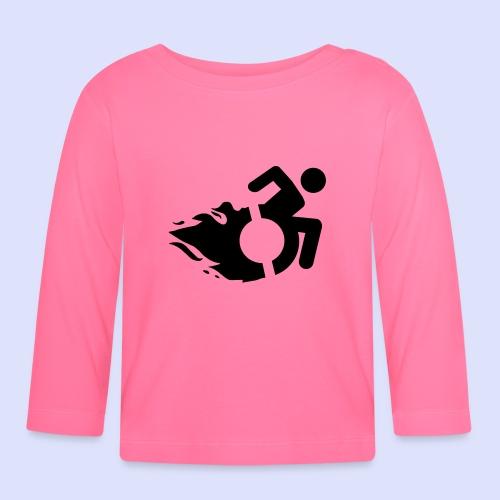 Rolstoel gebruiker met vlammen 002 - T-shirt