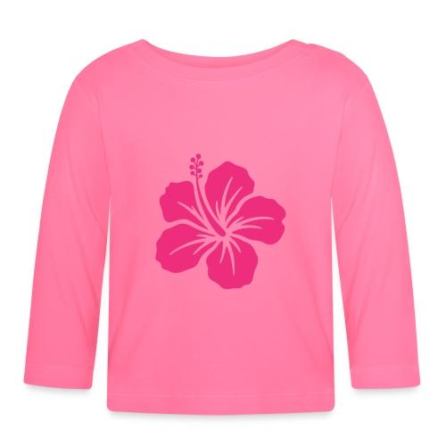 Camisetas, blusas, forros celulares de flor rosada - Camiseta manga larga bebé