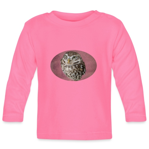 magical owl transparent green background - Baby Long Sleeve T-Shirt