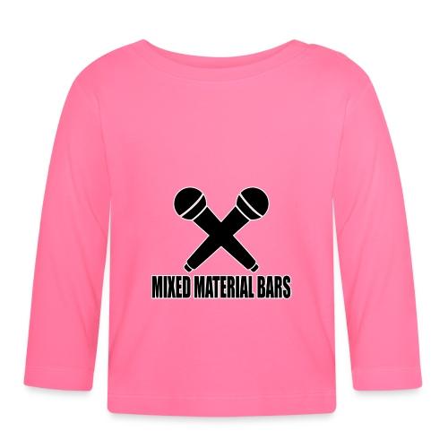 MIXED MATERIAL BARS - Baby Langarmshirt