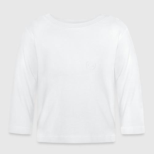 momloves WHITE png - Langærmet babyshirt
