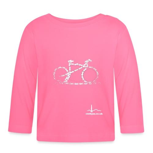 Cycling Bike Chain 160bpm.co.uk - Baby Long Sleeve T-Shirt