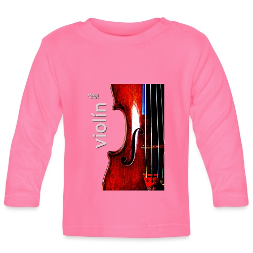 Violín i - Camiseta manga larga bebé