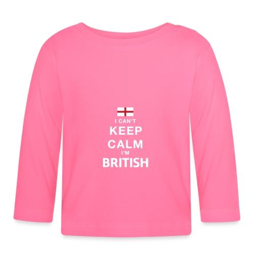 I CAN T KEEP CALM british - Baby Langarmshirt
