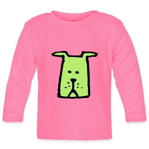 süßer Hund - Design - Geschenk für Kinder - Comic - Baby Langarmshirt
