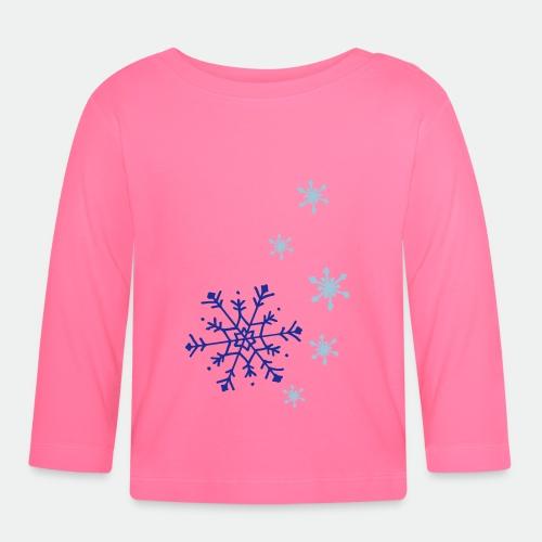 Snowflakes falling - Baby Long Sleeve T-Shirt