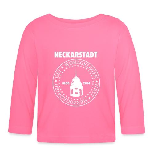 Neckarstadt – Blog seit 2014 (Logo hell) - Baby Langarmshirt