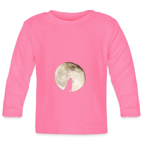 The wolf with the moon - T-shirt manches longues Bébé