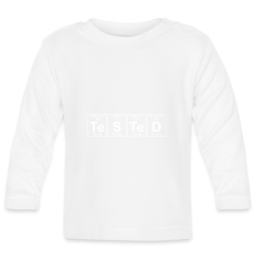 Te-S-Te-D (tested) (small) - Baby Long Sleeve T-Shirt