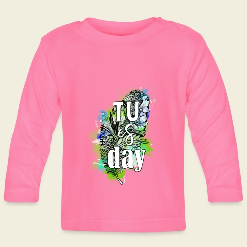 Tu-es-day Grün - Baby Langarmshirt