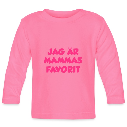 Jag är mammas favorit - Långärmad T-shirt baby