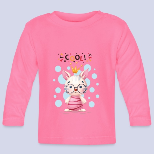 Nice Cat, Kitty Design for everyone - Baby Long Sleeve T-Shirt