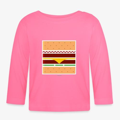 Square Burger - Maglietta a manica lunga per bambini