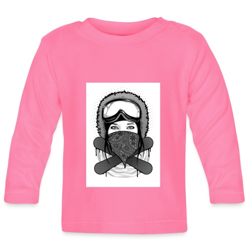 Snowboard-giril-01 - Baby Long Sleeve T-Shirt