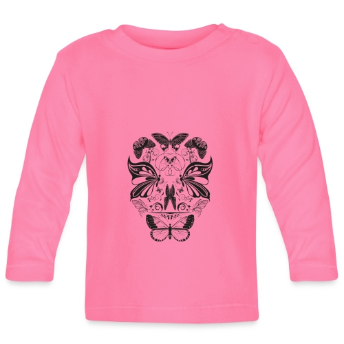 Butterfly skull face black - Baby Long Sleeve T-Shirt