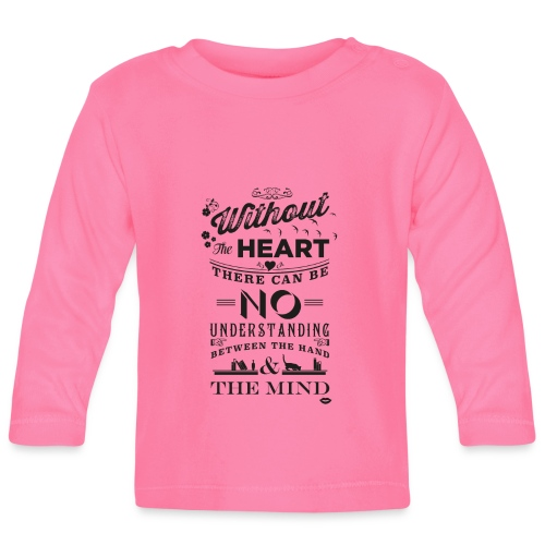 Without the heart black - Baby Long Sleeve T-Shirt