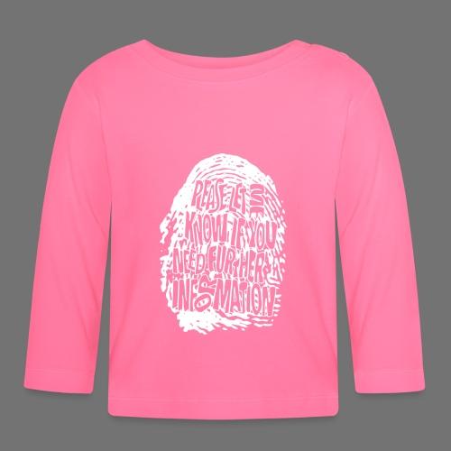 Fingerprint DNA (white) - Baby Langarmshirt