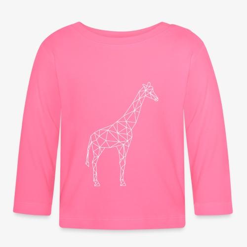 Giraffe Geometrisch weiss - Baby Langarmshirt