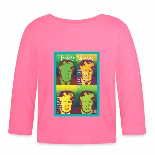 Trumps fake news magazine - Baby Long Sleeve T-Shirt