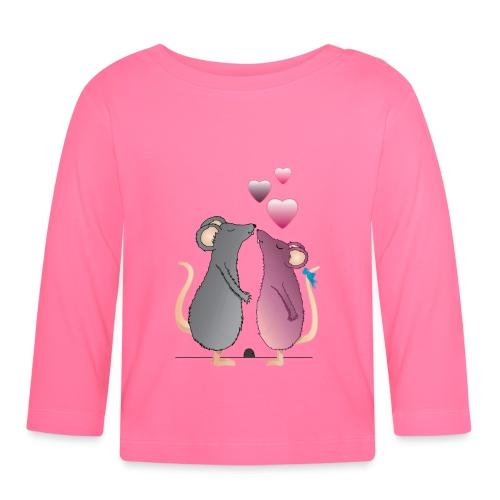 ratones3 - Camiseta manga larga bebé