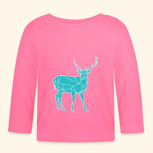 Blue Reindeer - Baby Long Sleeve T-Shirt