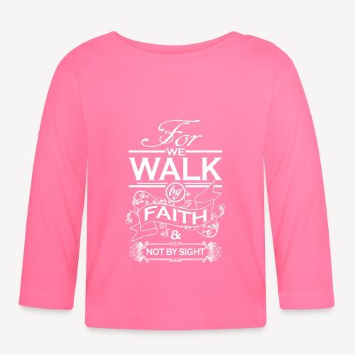 walk white - Baby Long Sleeve T-Shirt
