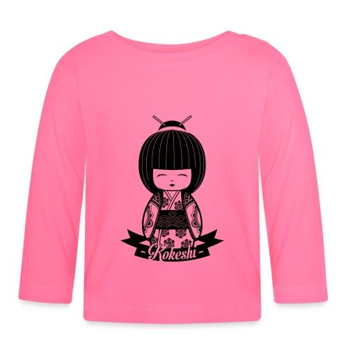 Kokeshi Black - Maglietta a manica lunga per bambini