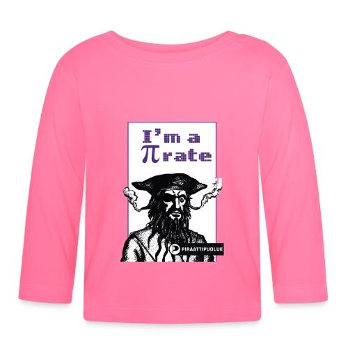 I am a pirate - Vauvan pitkähihainen paita