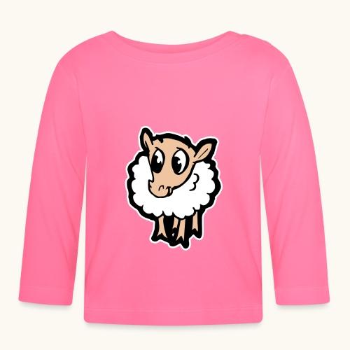 Süßes lustiges Comic Schaf Geschenkidee Cartoon - T-shirt manches longues Bébé